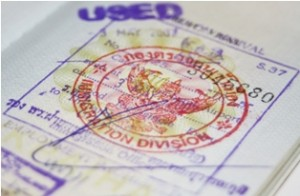Passport with Thailand visa